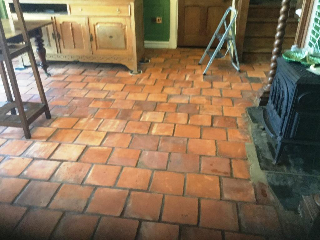 Spanish Terracotta After Cleaning Swansea