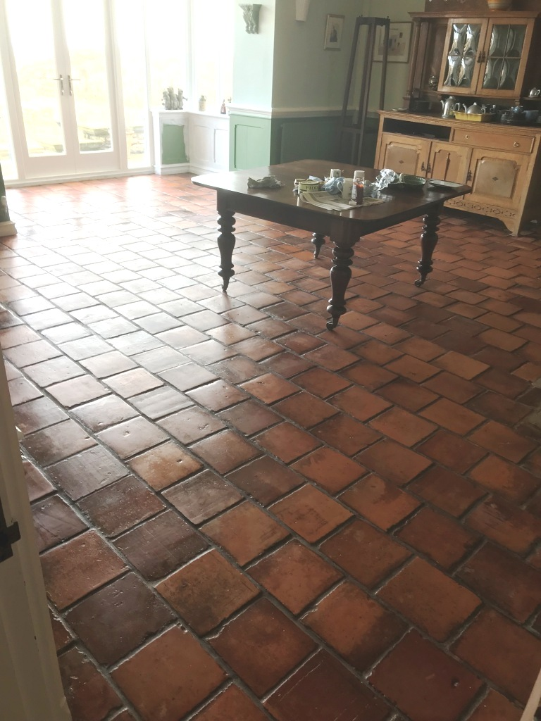 Spanish Terracotta After Sealing Swansea