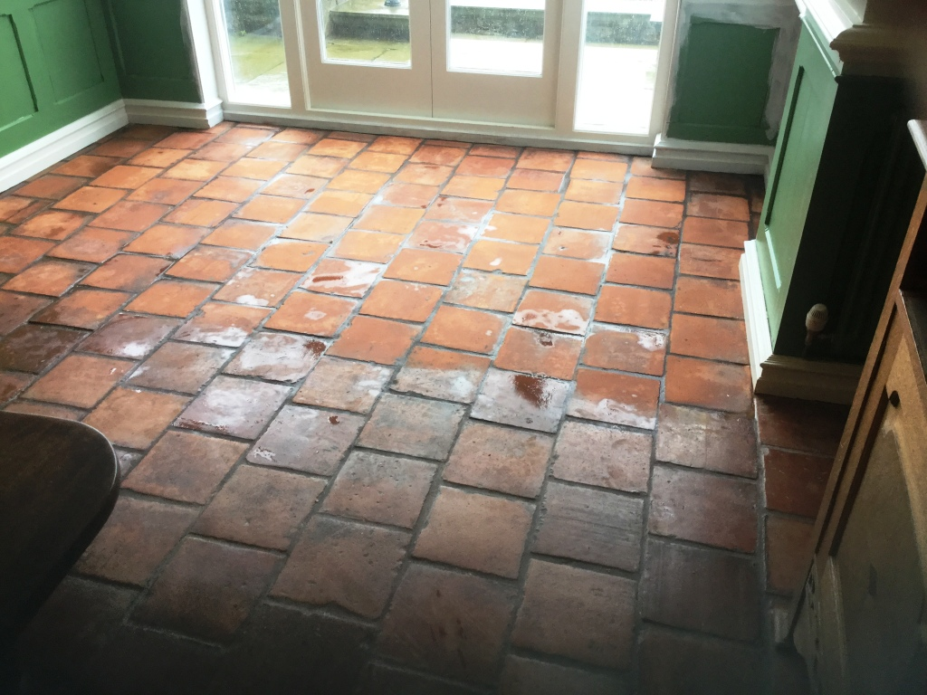 Spanish Terracotta During Cleaning Swansea