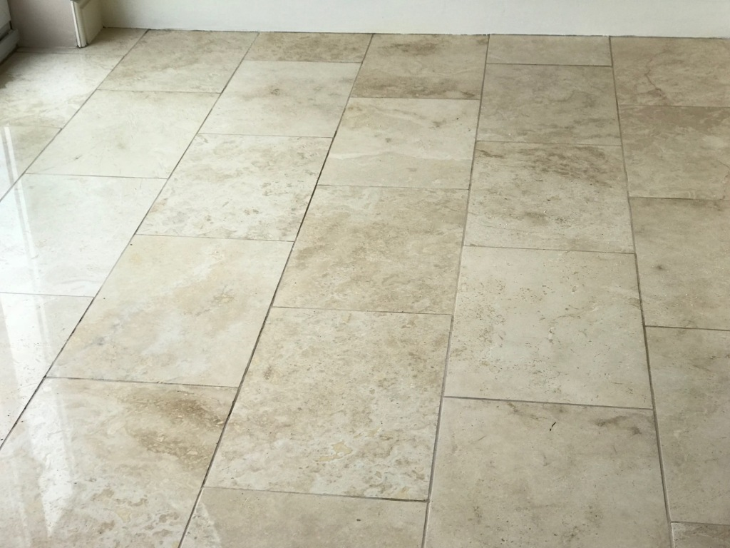 Travertine Floor Swansea After Cleaning
