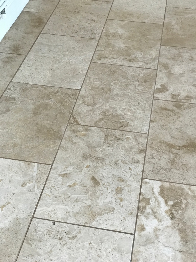 Travertine Floor Swansea Before Cleaning