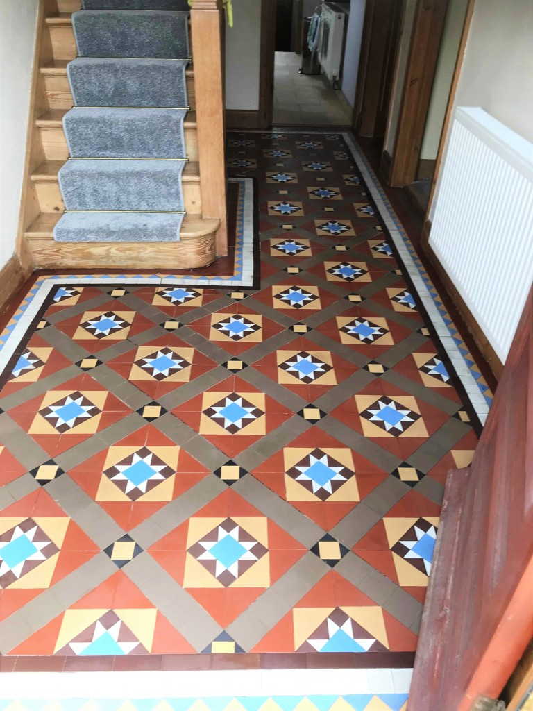 Victorian Hallway Floor Tiles After Cleaning The Mumbles