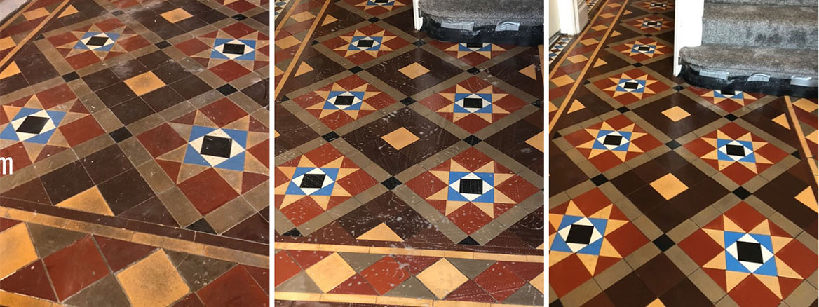 Renovating Victorian Hallway Tiles in Glynneath