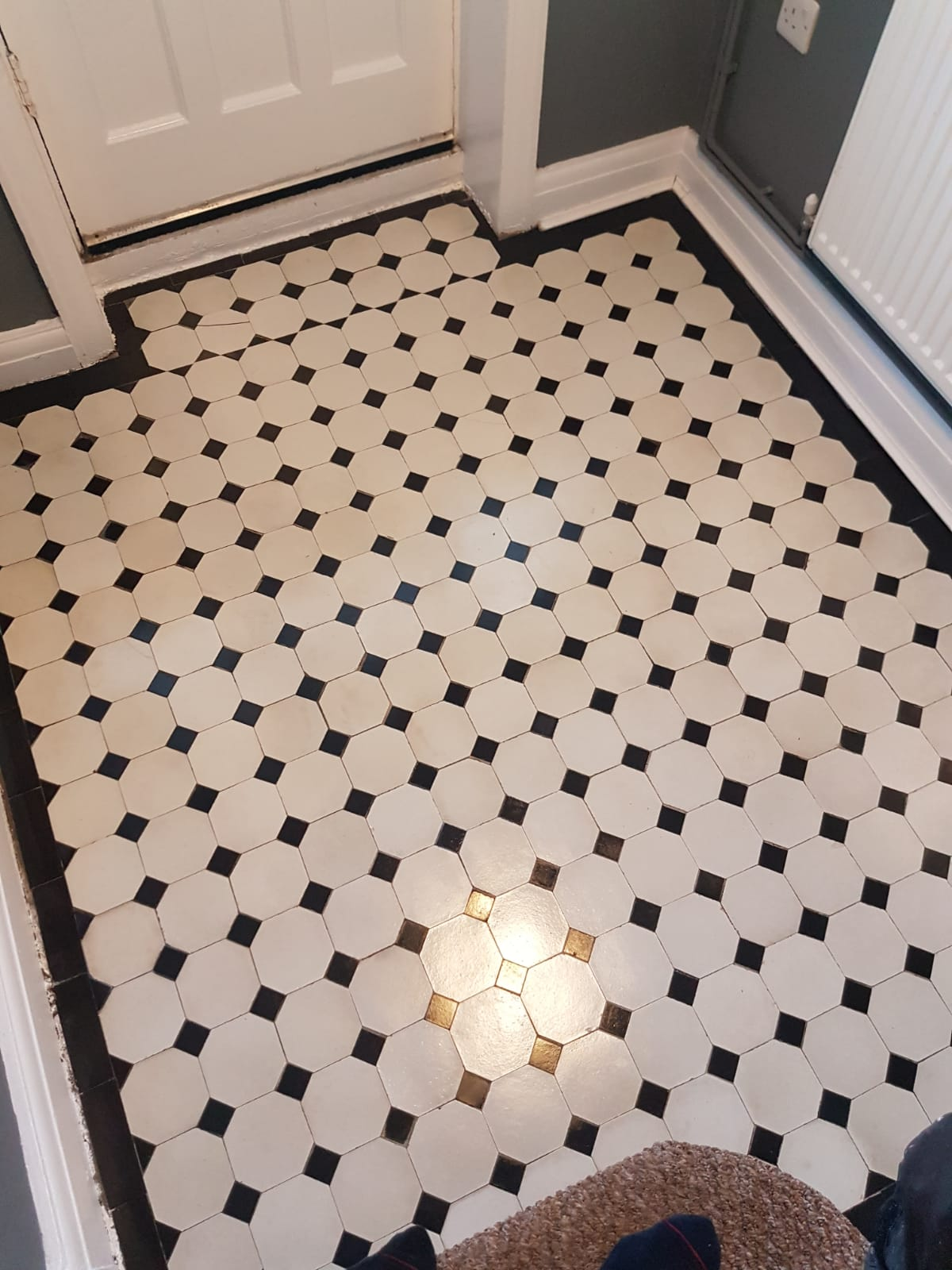 Victorian Tiled Hallway After Cleaning Sealing in Neath